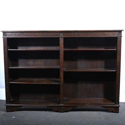 Lot 14 - An oak open bookcase.
