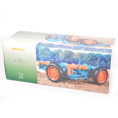 """Lot 9 - Universal Hobbies 1:16 scale model tractor; Ford Doe """"Triple D"""" , boxed."""