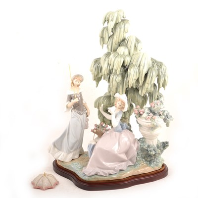 """Lot 14 - Lladro - """"Under The Willow"""" group"""