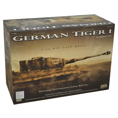 Lot 19 - Forces of Valor 1:16 die-cast model; German Tiger I tank (Michael Wittmann's Final Battle)