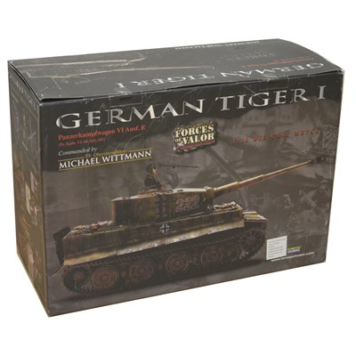 Lot 20 - Forces of Valor 1:16 die-cast model; German Tiger I tank (Commanded by Michael Wittmann)