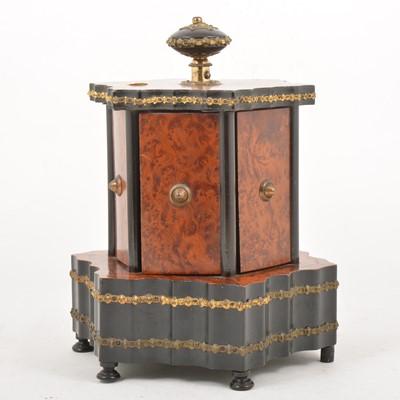 Lot 95 - Amboyne and ebonised musical work box