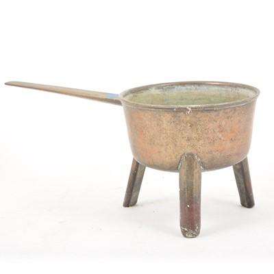 Lot 104 - An 18th Century bronze skillet