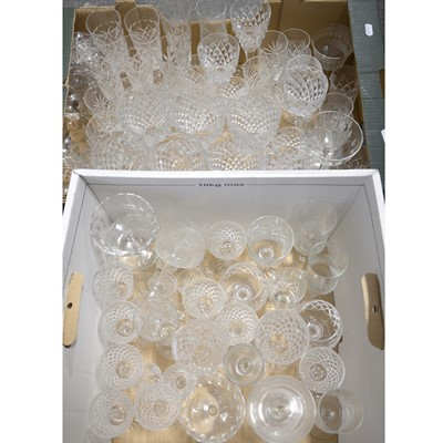 Lot 73 - Two boxes of assorted cut glass stemware