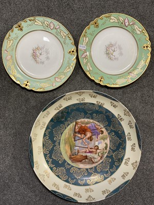 Lot 26 - A selection of plates, including Dresden and Limoges