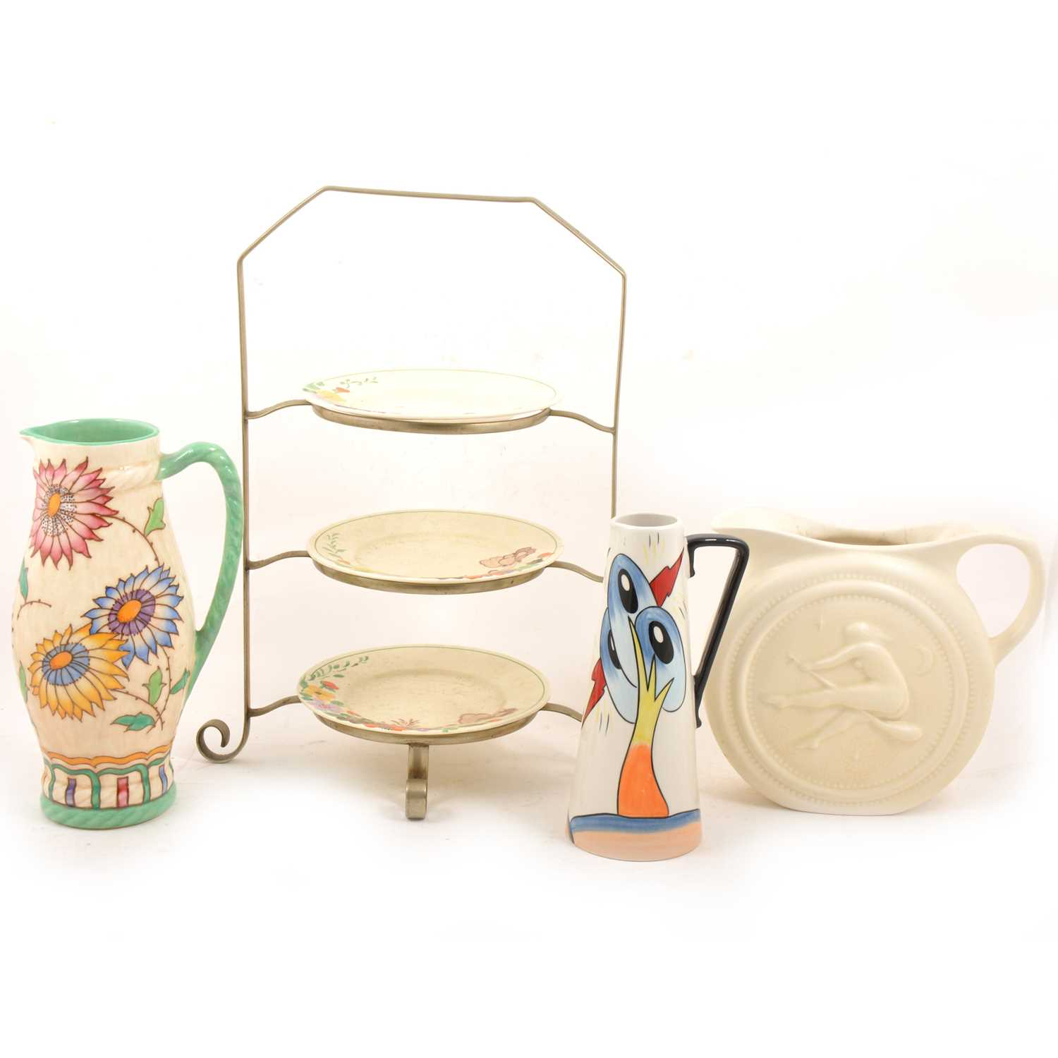 Lot 56 - Clarice Cliff, Charlotte Rhead, Lorna Bailey and Vulcan ceramics