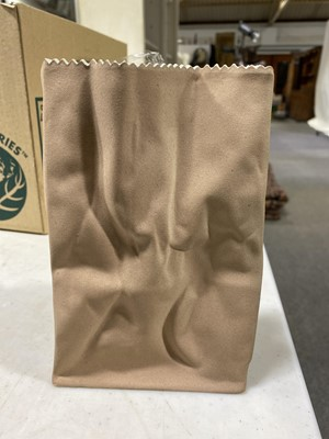 Lot 43 - A Rosenthal Studio Line 'Paper Bag' vase, designed by Tapio Wirkkala