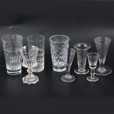Lot 86 - Victorian ale glasses, beakers etc