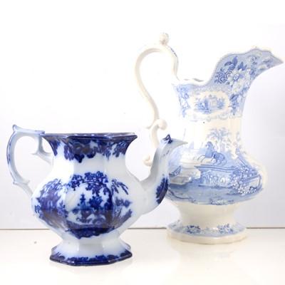 Lot 56 - Staffordshire pottery transferware jar, floral...