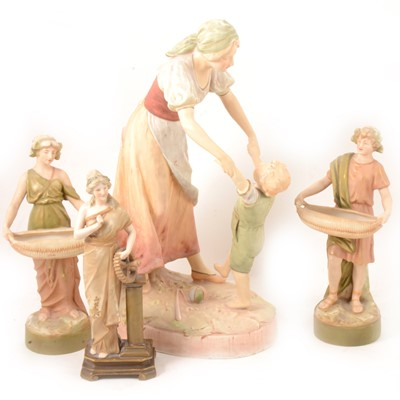 Lot 39 - Royal Dux and Depose EW Turn Wien figurines.