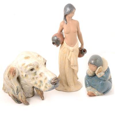 Lot 14 - Lladro figurines.