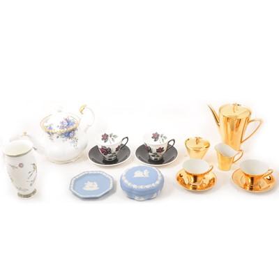 Lot 54 - A quantity of part tea sets, decorative plates, and other decorative ceramics.