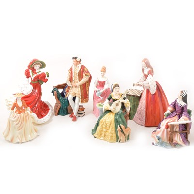 Lot 42 - Royal Doulton historical royal and other figures