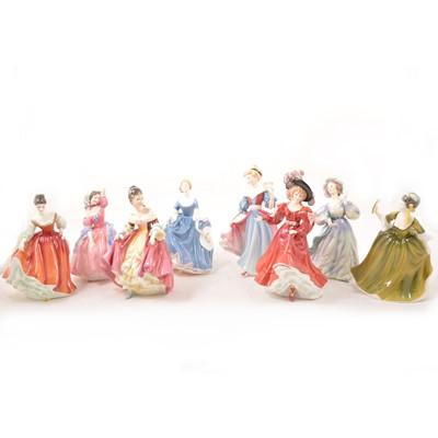 Lot 15 - Eight Royal Doulton ladies, including Southern Belle HN2229.