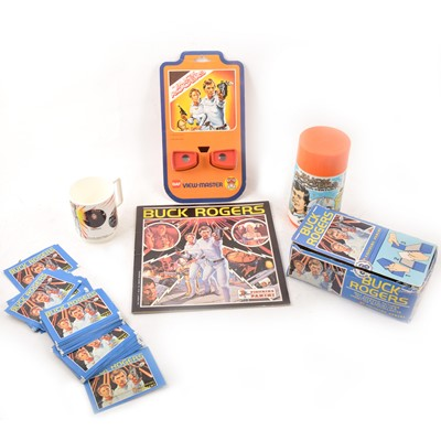 Lot 23 - Buck Rogers flask, Panini stickers, Topps trade cards etc.
