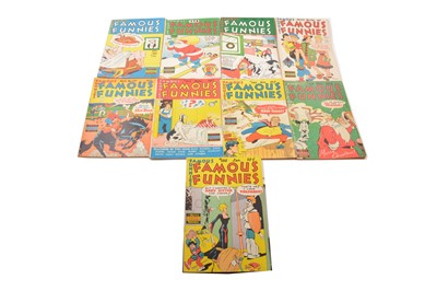 Lot 27 - Famous Funnies comics including no.172 to 186