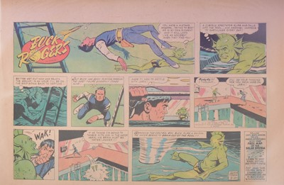 Lot 37 - Three folders of Buck Rogers newspaper comic pages by George Tuska 1959 to 1965