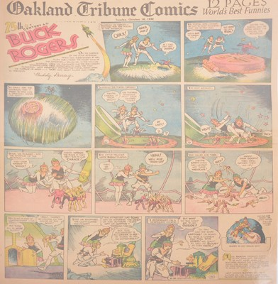 Lot 44 - Buck Rogers newspaper comic strip pages, 40 colour supplement pages 1932-134