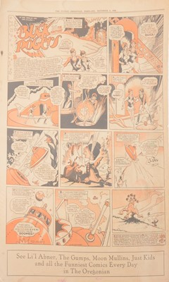 Lot 45 - Buck Rogers newspaper comic strip pages, 40 colour supplement pages 1934-1935