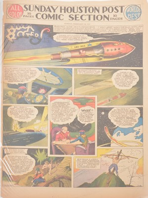 Lot 47 - Buck Rogers newspaper comic strip pages, 40 colour supplement pages 1937-1939