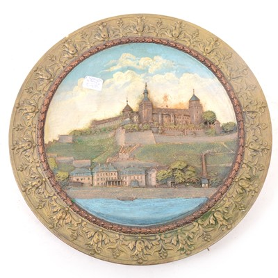 Lot 49 - Late 19th Century German wall plaque, 'Wubzpurg'