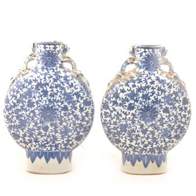 Lot 13A - Pair of Chinese moon flasks, Qianlong style.
