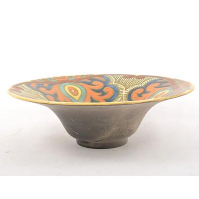 "Lot 52 - Large Gouda pottery bowl ""Rembrandt"""