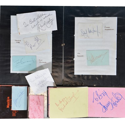 Lot 8 - Signatures of film and TV stars, a collection in an album and loose
