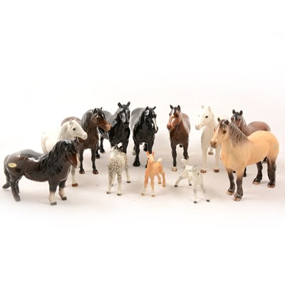 Lot 2 - A collection of Beswick horse models.