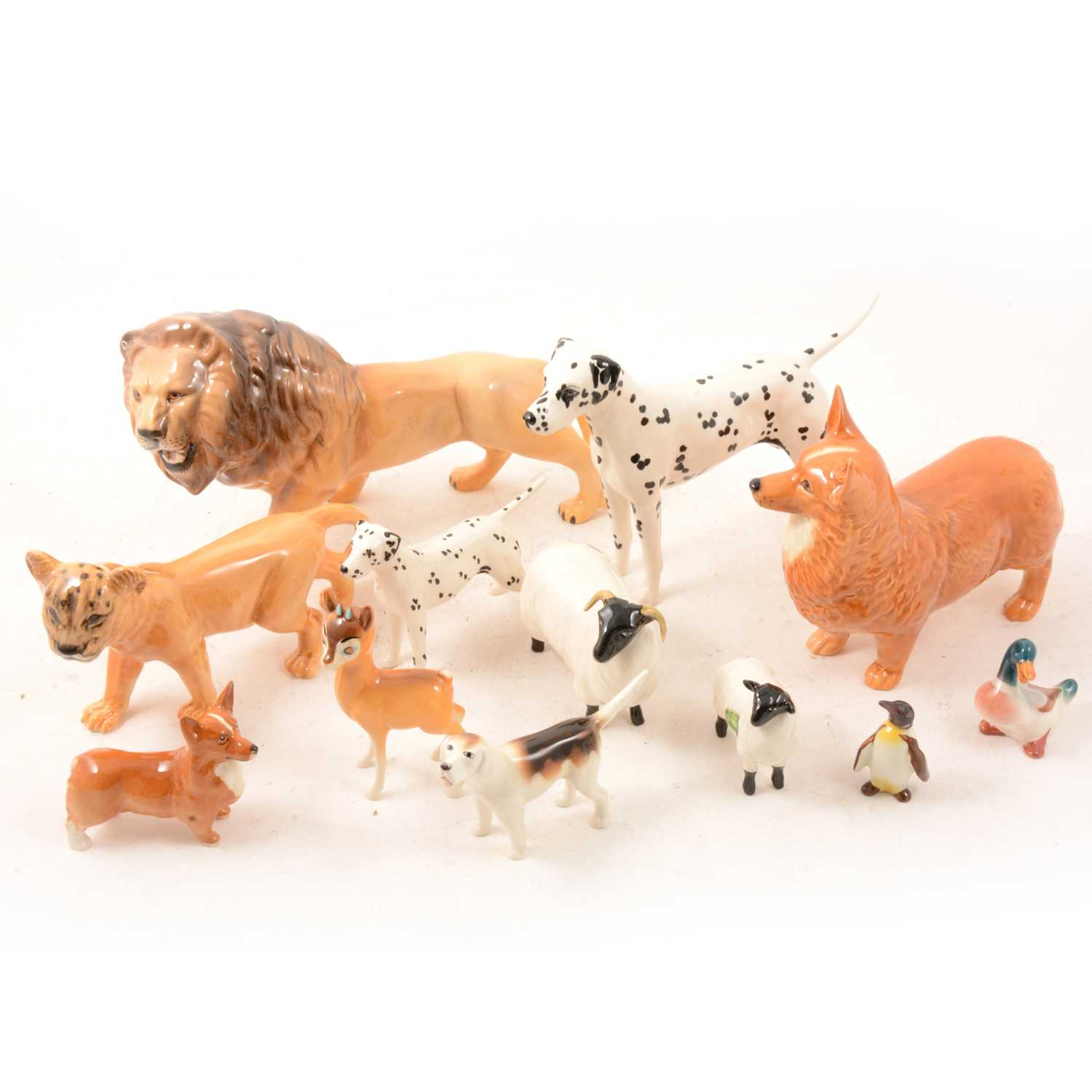 Lot 23 - A small collection of Beswick animal models.
