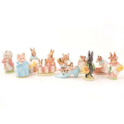 Lot 11 - A small collection of Beswick Beatrix Potter models.