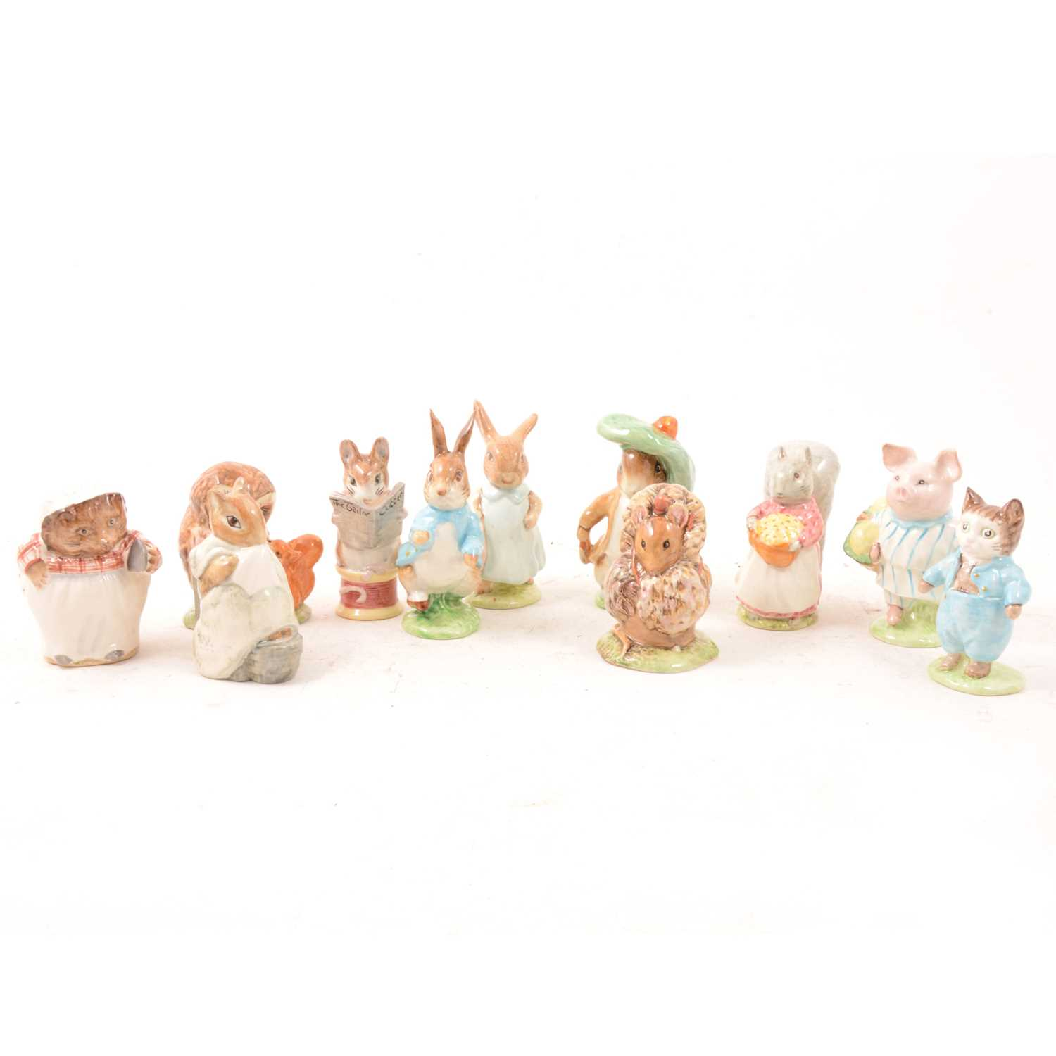 Lot 22 - A small collection of Beswick Beatrix Potter models.