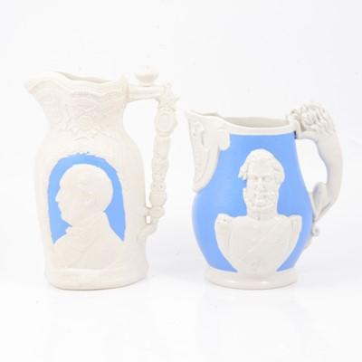 Lot 56 - Two stoneware Commemorative jugs