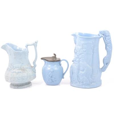 Lot 59 - Stoneware Keeper's Daughter jug, Stags jug and a Gamekeeper jug