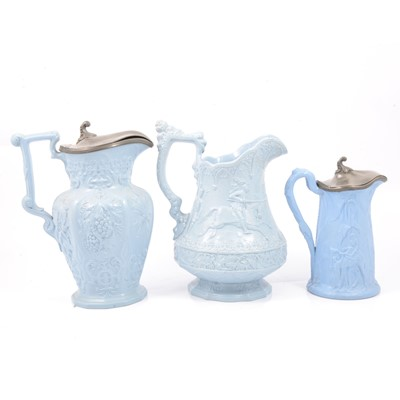 Lot 62 - Stoneware Eglington jug, Hops & Barley jug and a Camel jug