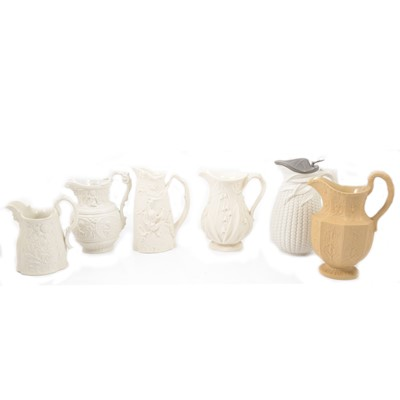 Lot 64 - Stoneware Elizabethan jug and five other jugs