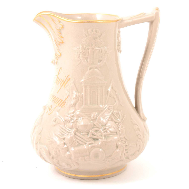 Lot 44 - A drab glazed earthenware named jug, 'Henry Swift Loughborough 1851'.