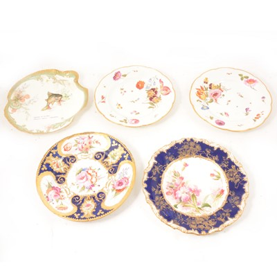 Lot 35 - A pair of Derby plates and other 19th century plates.