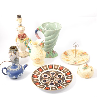 Lot 18 - Quantity of decorative ceramics including Crown Derby, Clarice Cliff, etc.