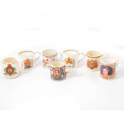 Lot 17 - Royal commemorative mugs.