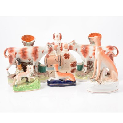 Lot 1 - Collection of Staffordshire pottery