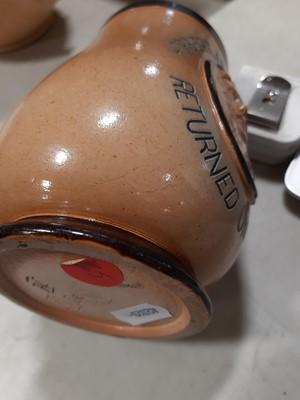 Lot 46 - Doulton Lambeth stoneware commemorative vase, and Doulton Burslem commemorative jug.