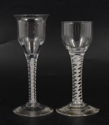 Lot 5 - Cordial glass and a wine glass