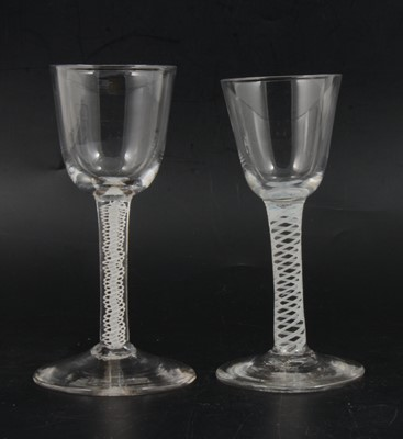 Lot 10 - Two wine glasses