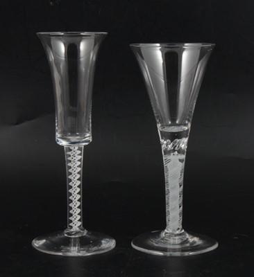 Lot 12 - Two ale flutes