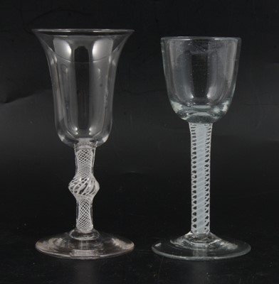 Lot 13 - Two wine glasses