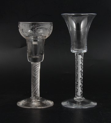 Lot 15 - Pan top wine glass and another
