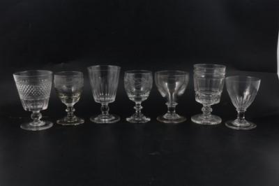 Lot 17 - Seven glass rummers