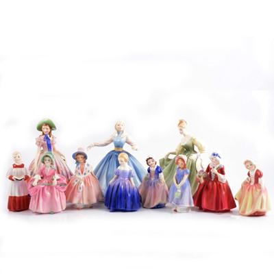 Lot 8 - Small collection of eleven Royal Doulton figures