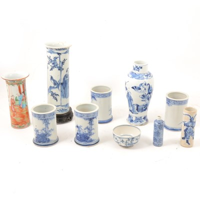Lot 38 - Chinese and Japanese vases.
